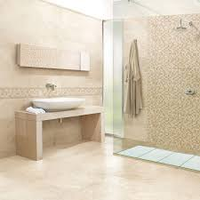 bathroom travertine bathroom with shower stall and white bath up