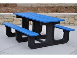 Park Bench Made From Recycled Plastic Recycled Picnic Tables Plastic Picnic Tables In Stock Uline