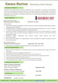 Best Teaching Resumes by Elementary Teacher Resumes 2nd Grade Teacher Resume Classroom