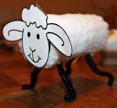 use toilet paper roll cotton balls pipe cleaner and face cut out