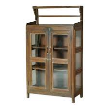 rustic glass kitchen cabinets vintage rustic glass door cabinet