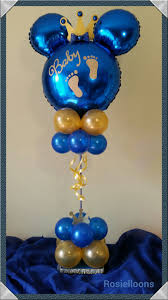 royal blue and gold baby shower decorations royal baby shower balloon topiary your one will be the