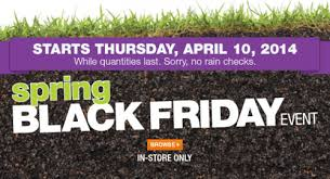 spring black friday sales home depot home depot canada spring black friday sales and deals in store