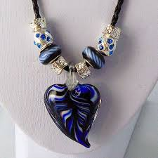 beaded necklace pendants images Murano glass heart pendants and beaded necklaces gifts for my honey jpg
