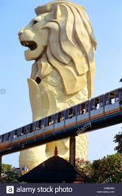 singapore lion singapore sentosa island the and merlion statue