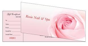 nail salon gift cards gift certificates printing for nail salon