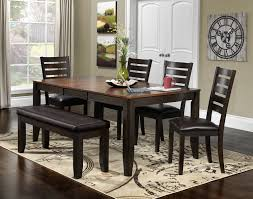 Casual Dining Room Sets Krista 6 Piece Dinette Set Dark Chocolate Leon U0027s