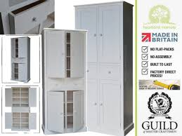 Tall Kitchen Storage Cabinets by Solid Pine Or Oak 7ft Pantry Linen Larder Kitchen Cabinet