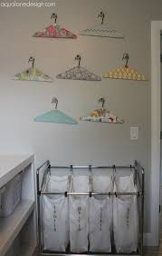 Laundry Room Hangers - project laundry room update aqua lane design