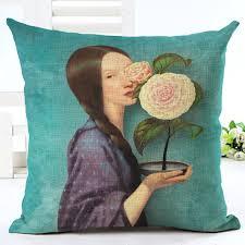 acheter coussin canapé pas cher nouveau arrivent vente chaude classique fleur fille