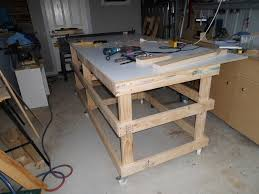 how to build a table saw workstation table saw work station with homemade t square fence part 1 by gcm