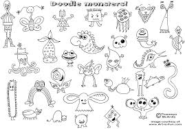 doodle monsters how to draw doodles sketches and pencil drawings