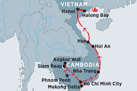 Saigon On World Map by Jewels Of Indochina Vietnam Tours Peregrine Adventures