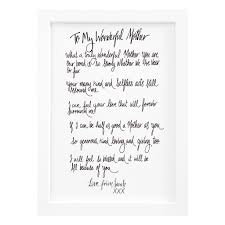 Giving Christmas Gifts Poems Mum Poem Gift Print By De Fraine Design London Notonthehighstreet Com