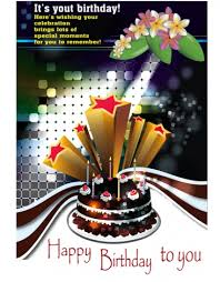 Birthday Card Ai A4 Birthday Card Design Vectors Stock In Adobe Illustrator Ai