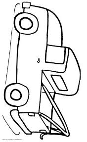 pickup truck simple coloring page