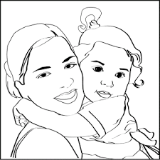 mom baby color pages coloring pages