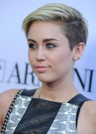 very short edgy haircuts for women with round faces miley cyrus short straight cut shaved sides hair style and hair