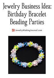 beading bracelet images Girls 39 birthday bracelet beading party jewelry making journal jpg