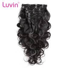 Cheap Human Hair Extensions Clip In Full Head by Online Get Cheap Human Hair Clips Aliexpress Com Alibaba Group