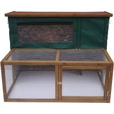 Double Rabbit Hutches Hutch Cover For Lazy Bones 4ft Double Rabbit Hutch With Under Run