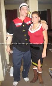 cool popeye olive oyl costume costumes halloween costumes