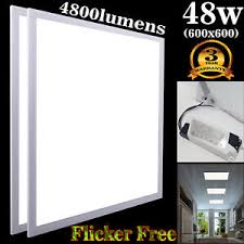 lumiere bureau 48w ceiling suspended recessed led panel white light office salon