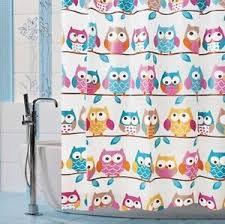 Owl Shower Curtains Kids Bathroom Owl Shower Curtain Heavy Duty Vinyl Fun Whimsical 71