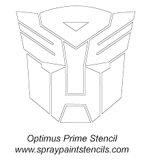 transformers stencil and is great to use for rescue bots too