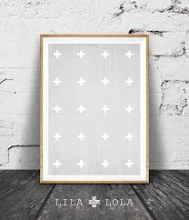 Grey And White Wall Decor Cross Print Swiss Cross Wall Art Decor Grey And White Cross