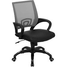 White Mesh Office Chair by Mid Back White Mesh Office Chair With Chrome Finished Base