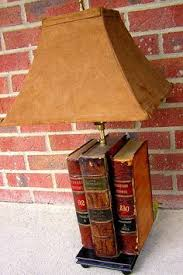 Upright Table Lamps Stacked Books Table Lamp Lamps Book Lamp And Stacked Books