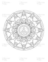 peace mandala coloring pages