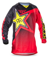 fly womens motocross gear kinetic rockstar rockstar red jersey fly racing motocross mtb