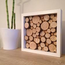 tableau original design tableau carré nature u0026 bois sur cadre blanc wood art woods and