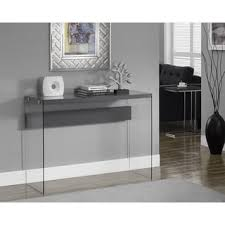 dark taupe reclaimed look tempered glass sofa table free