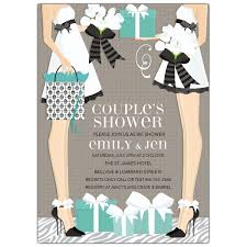 s shower invitations classic two brides shower invitations paperstyle