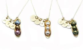 3 peas in a pod jewelry custom peas in a pod necklace jc jewelry design groupon