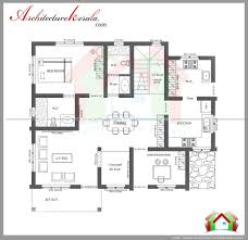 House Layout Drawing by House Plan Kerala 3 Bedrooms Three Bedroom House Plan And