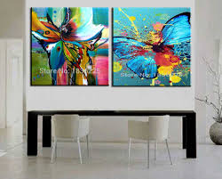 compare prices on abstract painting butterfly online shopping buy free shipping cheap abstract modern wall painting butterfly home decorative art picture paint on canvas paintings