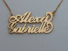 Personalized 14k Gold Name Necklace Gold Sparkle Heart Name Necklace 14k Solid By Bestnamenecklace