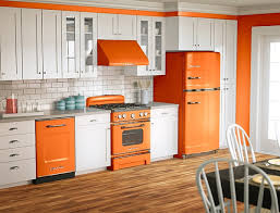 Retro Kitchen Design by Orange And White Is A Popular Color Scheme For Retro Designs