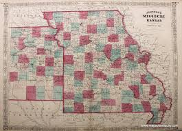 Map Missouri Johnson U0027s Missouri And Kansas Antique Maps And Charts U2013 Original
