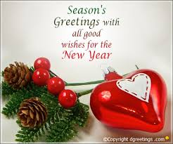 season s greetings with all wishes for the new year