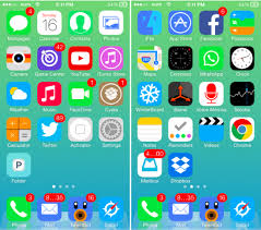 Iphone 5 Symbols On Top Bar The 12 Best Ios 7 Themes For Iphone