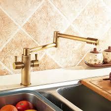 antique brass kitchen faucet foldable single handle kitchen faucet in antique brass