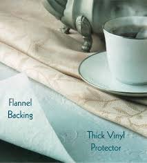 flannel backed vinyl table pad heavyweight deluxe vinyl table pad white 52 x120