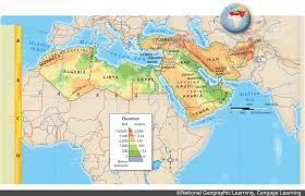 Africa Middle East Map by Maps Team Sigma Social Studies