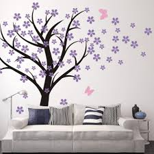 compact wall art decals martha stewart flower butterfly wall terrific living room wall decals amazoncom cherry blossom wall design decor