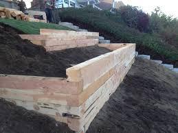 Retaining Wall Garden Bed by Juniper Landscape Timbers A Project Fasoldt Gardens